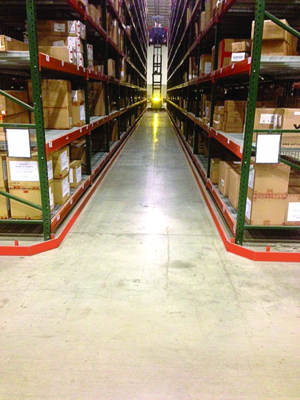 Guide Angles for Pallet Rack Aisle