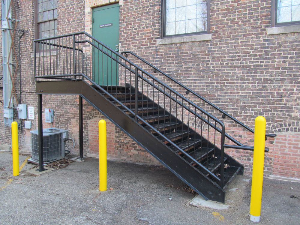 Stair & Guardrail with Bollards